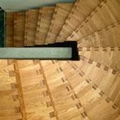 Holz-Faltwerktreppe halbgewendelt 80cm
