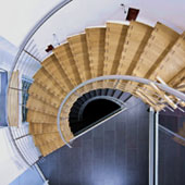 Faltwerk-Segmentbogentreppe 95cm Draufsicht