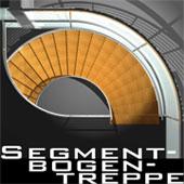 Faltwerks-Segmentbogentreppe 150cm CAD