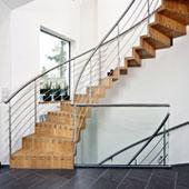 Faltwerk-Segmentbogentreppe 95cm