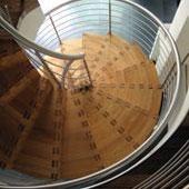 gewendelte Faltwerktreppe, 60cm