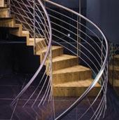 Holz-Faltwerkwendeltreppe 90cm Antritt