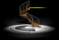 The Folded Plate Stair by Zeitform Design